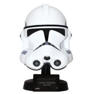 STAR WARS ROTS CLONE TROOPER .45 SCALE HELMET + DISPLAY STAND MASTER