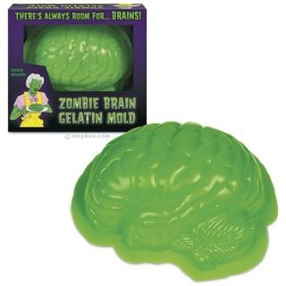 ZOMBIE BRAIN JELLO MOLD EDIBLE BRAIN WALKING DEAD HALLOWEEN HORROR