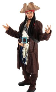 of The Caribbean Jack Sparrow Tricorn Costume Hat Adult New