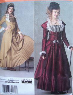 Costume Pattern Simplicity 2172 Steampunk Victorian Historical