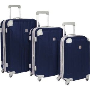 Choice Luggage Beverly Hills Country Club Malibu 3 Piece Hardside Spin