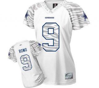NFL Cowboys Tony Romo Womens Zebra Field FlirtFashion Jersey