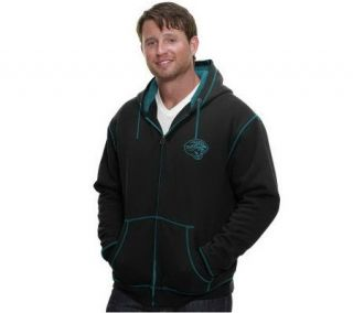 NFL Pro Line Mens Retro Badge Contrast Stitch Sherpa Hoodie