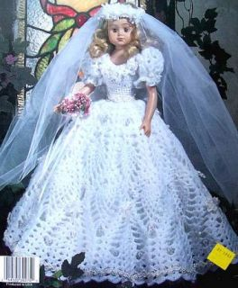 Crochet Pineapple Wedding Dolls For 11 1/2 & 15 Fashion Dolls