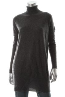 Cris Los Angeles New Charcoal Cashmere Long Sleeve Turtleneck Sweater