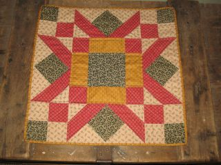 table top runner quilted center piece 100 cotton country Christmas