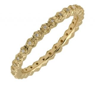 Simply Stacks Sterling Diamonds 18K Gold Plated2.25mm Ring   J299287