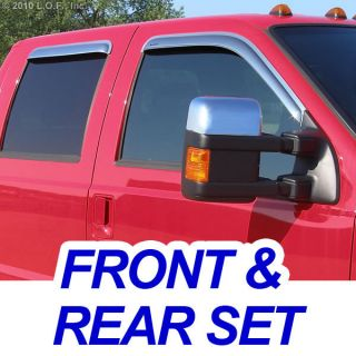 Vent Visors Window Chrome 4pc 07 11 Ford Edge 07 10 MKX