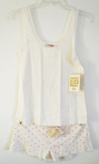 Juicy Couture Angel Lace Cami Camisole Tank Shorts Pajama Set s M L