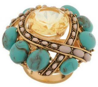 Wildlife by Heidi Klum Cabochon & Crystal Duchess Ring —
