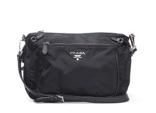 prada tessuto nylon black crossbody bag