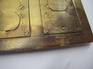 Brass Electrical Floor Box Cover Plate Walker Dual Com