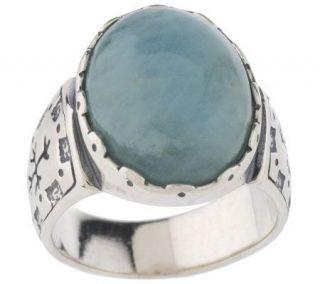 Carolyn Pollack Sterling Milky Aqua Ring —