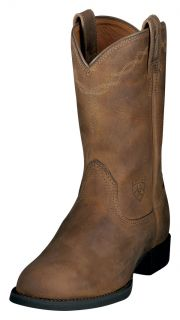 Ariat Western Boots Womens Cowboy Heritage Roper Brown 10000797