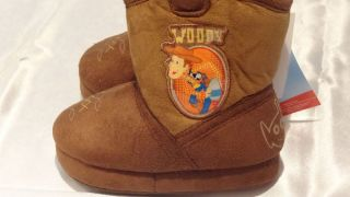 Disney Toy Story Boys Woody Cowboy Slippers Sizes 5 12