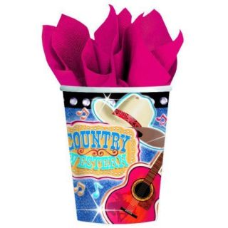 packages of Country Western Cowboy Theme Birthday Beverage Cups Party