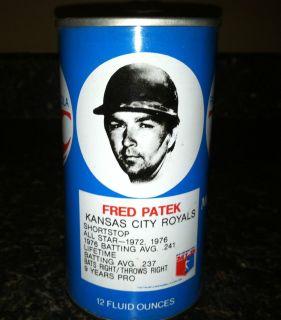 RC CROWN COLA VINTAGE FRED PATEK KANSAS CITY ROYALS SODA POP CAN