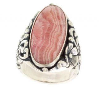 Carolyn Pollack Sterling Rhodochrosite Ring —