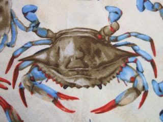 Timeless Treasures Blue Crabs Ocean Beach Food Cotton Fabric