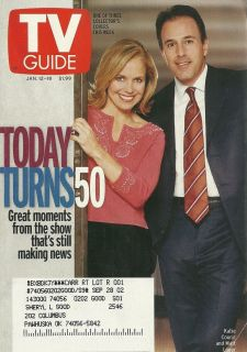 Katie Couric Matt Lauer Today Turns 50 2002 TV Guide
