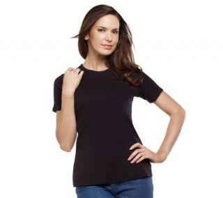 Liz Claiborne New York Essentials Short Sleeve Crew Neck Tee   A214289