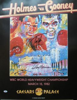 Larry Holmes Leroy Neiman Hand Signed Autographed 22x28 Poster PSA DNA