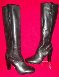 NWOB COLE HAAN NIKE SOLES COURTNEY AIR BLACK LEATHER KNEE HIGH BOOTS
