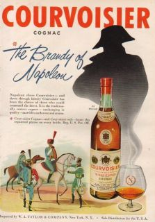 1952 Courvoisier VSOP Cognac Brandy French Soldier Ad