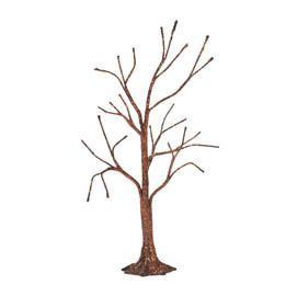 Dept 56 Halloween Copper Glitter Bare Branch Tree Black Village