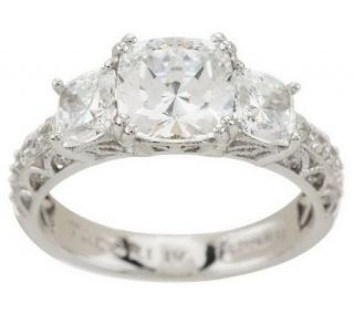 Tacori IV Diamonique Epiphany Bloom Cut 3 Stone Ring   J270799