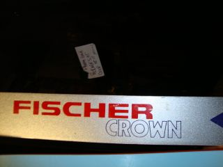 Used Cross Country Skis Fischer Crown 195 cm Plus Poles Bag Nice Shape