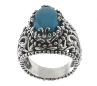 Carolyn Pollack Sterling Sleeping Beauty Turquoise Ring   J311094