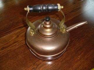 Vintage Simplex Copper Whistling Tea Kettle