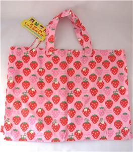 cram cream school lesson tote hand bag strawberry