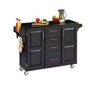 Home Styles Large Create a Cart Black Granite Tp/AssortedBase