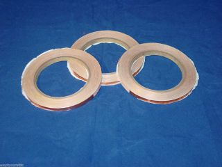 Lot of 3 Copper Foil Tape for Stained Glass Art Crafting 7 32 to 1 4