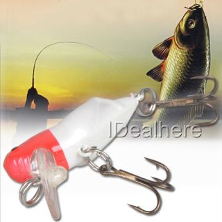 Cranks Plastic Fishing Lures Bait Hook Tackle Bass Red