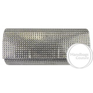 Elegant Bling Crystal Evening Bag Purse Prom Wedding Silver