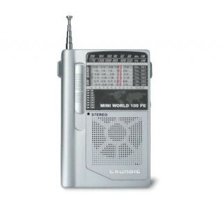 Grundig Mini100PE AM/FM Shortwave Portable Radio w/Earphones