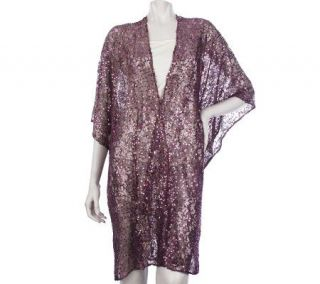 Kirks Folly Enchanted Lace Sparkle Robe   A215599