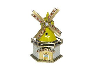 New Swarovski Crystal Windmill House Trinket Box