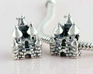 Fairy Tale Castle Sterling Silver European Charm Bead
