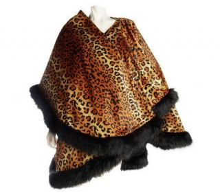 Joan Rivers Reversible Animal Print Wrap —