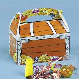 12 Pirate Treasure Birthday Party Favor Treat Boxes Dozen Kids New