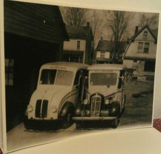 Old Friedens Pa I X L Creamery Dairy Milk Delivery Trucks Print