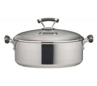Circulon Contempo Stainless Steel 7.5 Qt Wide Stockpot   K297596