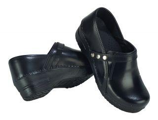 SANITA Womens CORI Black CLOG NURSING SHOES Size   40 9.5 10