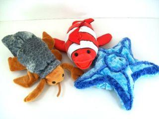 Hand Glove Puppets Crab Fish Starfish Plush Stuffed Animal Toys
