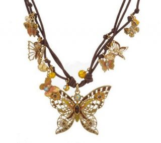 Kirks Folly Forever Free Butterfly Cord Necklace —
