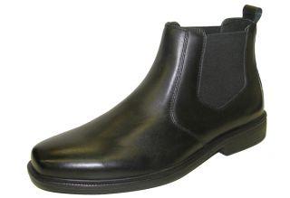 Giorgio Brutini Mens Cormac Plain Toe Leather Ankle Dress Boots Black